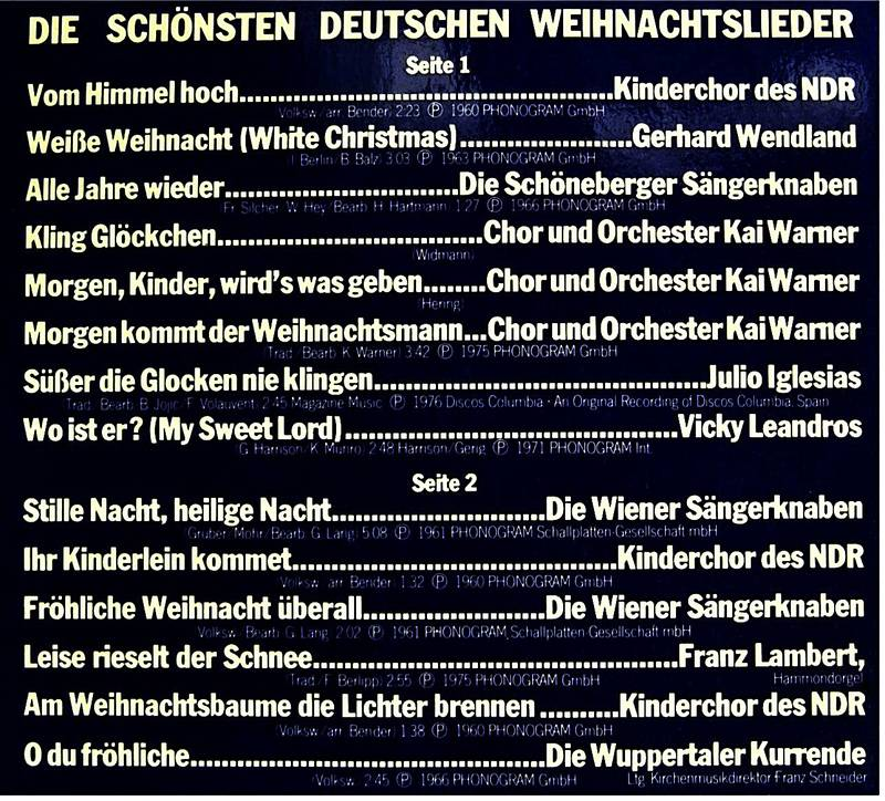 Julio Iglesias Weihnachtslieder.Deutsche Weihnacht Die Schönsten Deutschen Weihnachtslieder