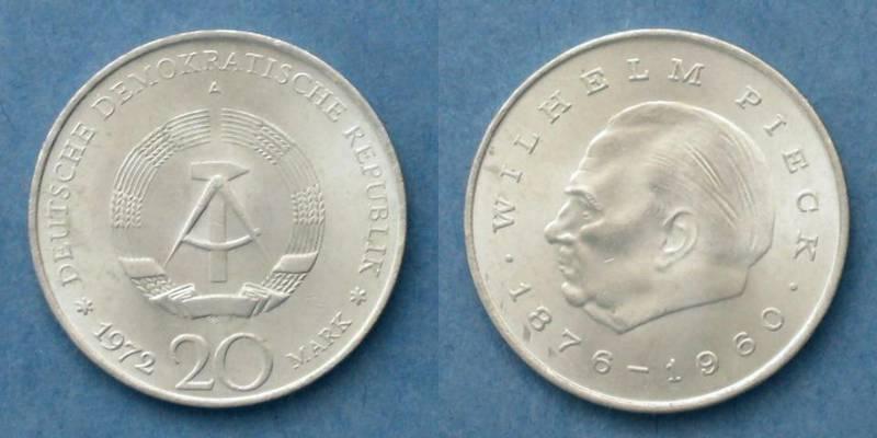 Verkaufe Ddr 20 Mark Münze Wilhelm Pieck 1876 1960 Von 1972