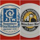 Augustiner - Bräu Wagner KG Bierdeckel BD Bierfilz 525 Jahre