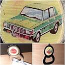 Toyota Oldtimer Corona Souvenir Flaschenöffner mit Wackelbild 2D