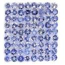 4, 63 ct - VVS , TOP LOT TANSANITE , PURPLE BLUE , 2, 7 mm