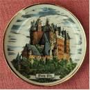 Burg Elz - kleiner Andenken-Teller aus Porzellan