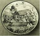 Porzellan-Wandteller , Motiv : Netze Klosterkirche St. Maria