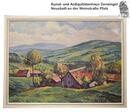 Landschaftsgemälde von Hans Kraft, Bergdorf, 1940