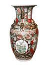 Farbenfrohe Vase, Porzellan, China, um 1900