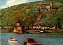 Kaub am Rhein mit Pfalz im Rhein und Burg Gutenfels