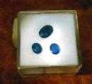 Sehr schöne und echte Saphire in Original Chargenverpackung