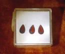 Schöne seltene böhmische Granate (Pyrop) mit 1,40 ct.