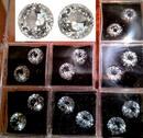 Schöne Bergkristalle im Brillantschliff aus Juweliersammlung