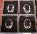 Bergkristalle im Ovalschliff aus Juweliersammlung!4 Stk.vorhanden