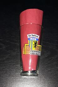 Fussball DDR 1976  FC Karl-Marx-Stadt 10 Jahre Bier Glas