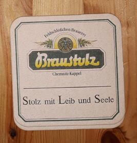 Feldschlösschen - Brauerei Chemnitz Kappel BD Bierdeckel