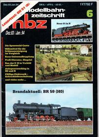 mbz modellbahn-zeitschrift Jahr 1993/94, Heft Dezember / Januar B