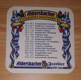 Aldersbacher Volksfestkalender 94 BD Bierdeckel