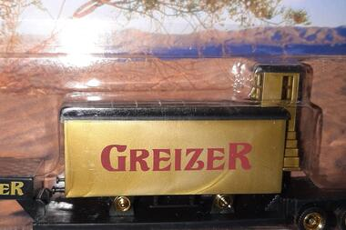 Hellblauer Greizer Peterbilt goldener Güterwagen Modell US Truck