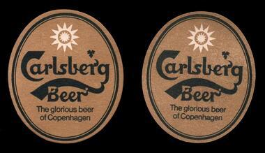 Carlsberg Beer -  The glorious beer of Copenhagen Bierdeckel gold