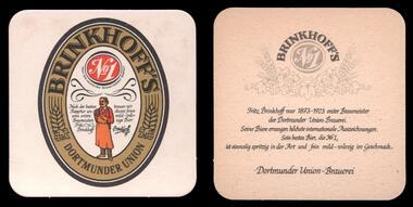 'Brinkhoff's Nr.1' Dortmunder Union DU Brauerei Bierdeckel BD