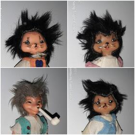 4 Mecki Figuren Igel Puppen Meckipuppen