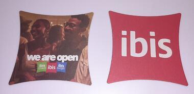 IBIS Hotel Bierdeckel BD we are open