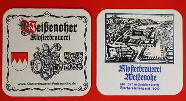 Klosterbrauerei Weißenohe Bierdeckel BD Bierfilz