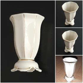 antike elfenbeinweiße Miniaturvase Porzellanfabrik Martinroda