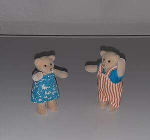 altes kleines Bären Paar Waldhausbären Puppenhausbären Bärenfigur