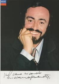 Autogramm Luciano Pavarotti