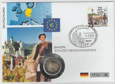 Numisbrief 2 € Schloss Neuschwanstein