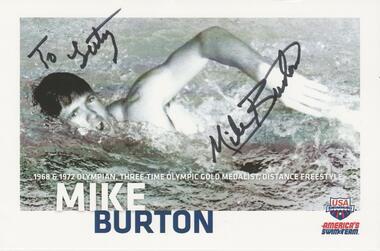 Olympiasieger  1968 + 1972  Mike Burton