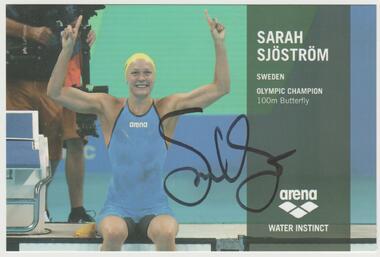 Olympiasiegerin 2016 Sarah Sjöström