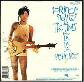 Prince - Sign o the times -  La la la he he hee - 7 Zoll Single