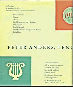 Peter Anders - Tenor - Sonderauflage Atlas Record