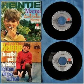 2 verschiedene Single von Heintje : Ich bau dir ein Schloss