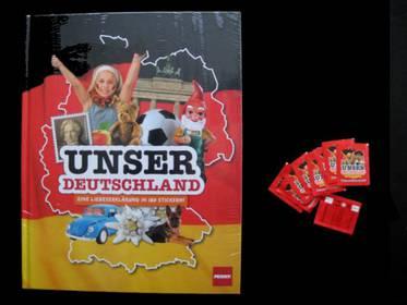 Unser Deutschland Sammelalbum + 49 Packungen mit 245 Bildern