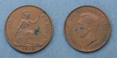 1 Penny - George VI - GB von 1946