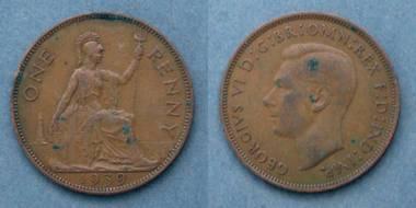 1 Penny - George VI - GB von 1939