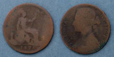 1 Penny - Queen Victoria - GB von 1878