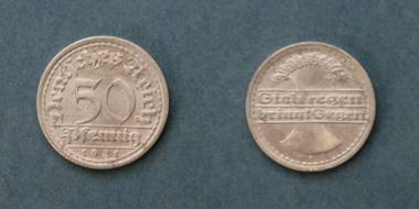 50 Pfennig (F) - Deutsches Reich von 1921