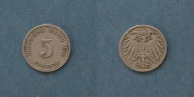 5 Pfennig (D) - Deutsches Reich von 1906