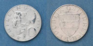 10 Schilling Silbermünze - Österreich von 1958