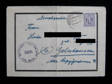 3 Pfennig Military Censorship 1946 (Drucksache)
