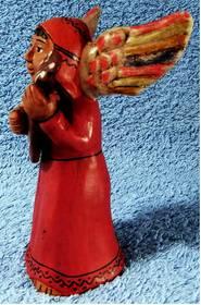 Engel mit Gitarre - aus Keramik - 1960er Jahre