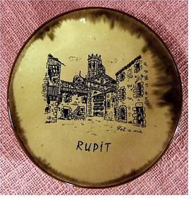 kleiner Keramik-Teller aus Rupit in den span. Pyrenäen - ca.13 cm
