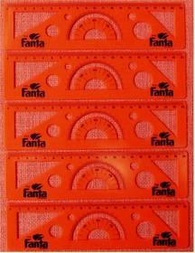 5 x Fanta Schablonen / Lineale -