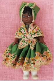 Puppe aus Trinidad und Tobago - Arme und Beine beweglich