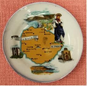 Gomera - kleiner Andenken-Teller aus Porzellan