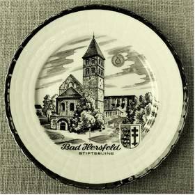 Porzellan-Wandteller , Motiv Bad Hersfeld Stiftsruine - ca. 20 cm