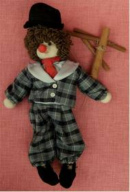 Marionette Clownähnlich - ca. 50 cm Länge - 1980er Jahre