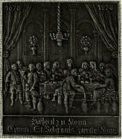 Buderus Jahresplakette 1978 - Gusseisen - 11 x 13 cm Hochzeit von