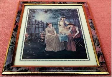 Wandbild mit nostalgischem Motiv : Damen am Cafetisch